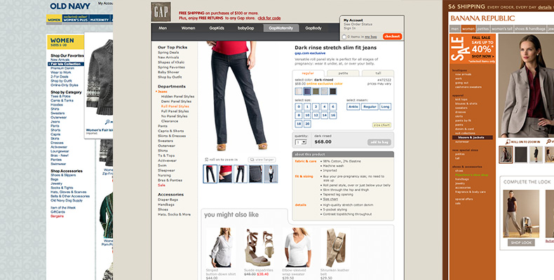 Gap Inc. product page