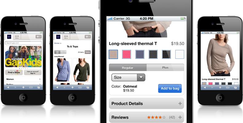 Gap Inc. mobile sites