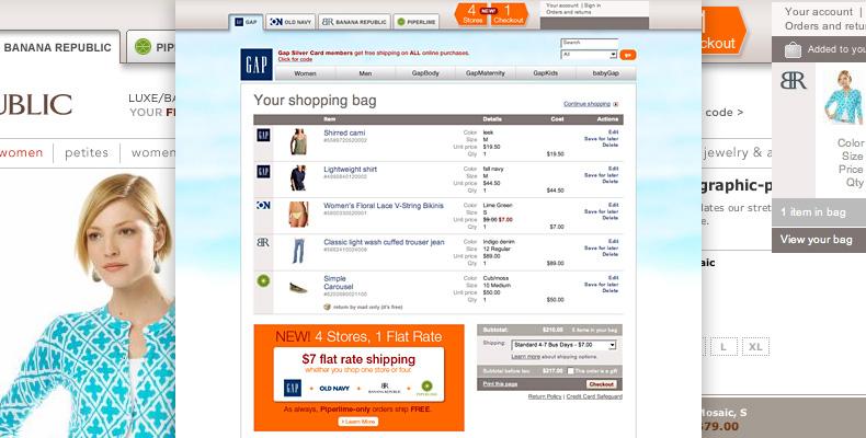 Gap Inc. universal shopping bag