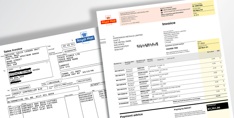Royal Mail invoices