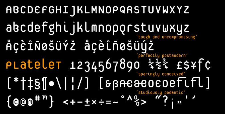 Platelet typeface